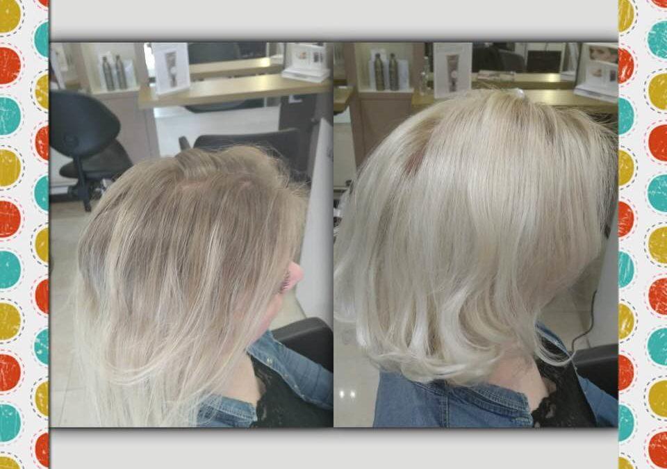 Realisé blond polaire   Powder et patine color gloss la Biosthetique paris